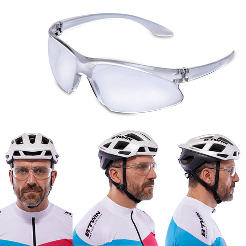 Outdoor Sports Day Vision Driving White Sunglass Transparent Goggle K64