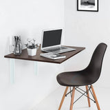 Kawachi invisible Foldable wall mounted Study Desk, foldable computer/Laptop/Office/kitchen Table SP5-brown