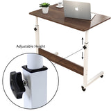 Kawachi Portable Height Adjustable Bedside Patient Tray Overbed Laptop Study Table KW10-Brown