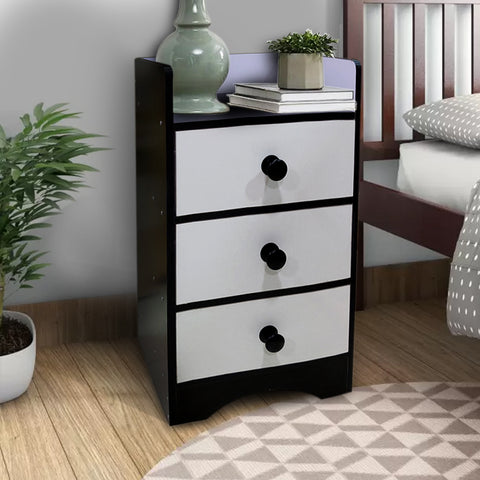 Kawachi Modern Home Bedroom Bedside Table Storage Cabinet with 3 Drawers KW23