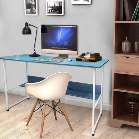 Kawachi Computer Laptop Study Writing Desk Home, Office Work Table with Bookshelf Storage KW30
