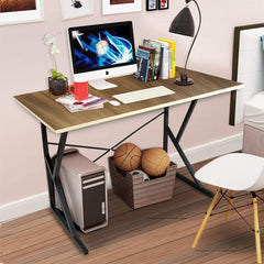Kawachi Multipurpose Computer Desk Laptop Writing Study Table for Home & Office Use Brown