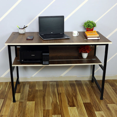 Kawachi Laptop Table Computer Desk for Writing Study for Home & Office Use Brown