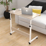 Kawachi Portable Height Adjustable Bedside Patient Tray Overbed Laptop Study Table KW10-Beige