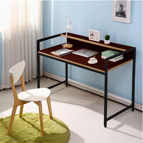 Kawachi Work From Home Computer Laptop Study Table Workstation Desk KW36-Brown