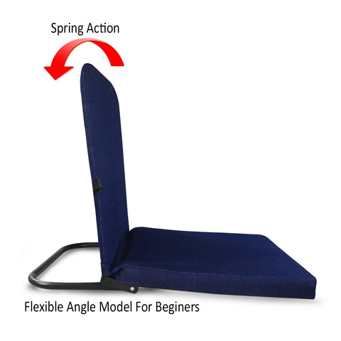 Kawachi Right Angle Back Support Portable Relaxing Folding Yoga Meditation Floor Chair