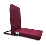 KAWACHI RIGHT ANGLE BACK SUPPORT PORTABLE RELAXING FOLDING YOGA MEDITATION FLOOR CHAIR I113-Maroon