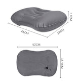 Kawachi inflatable comfortable travel neck pillow for picnic,flight journey,camping K498-Grey