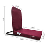 Pack of 2 Right Angle Back Support Portable Relaxing Folding Yoga Meditation Floor Chair Easy to Carry C212 Pack of 2