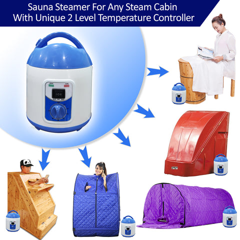 Kawachi Portable Steam Bath Generator for Any Steam Cabin with Temperature Control KW34