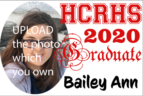HCRHS Graduate Magnet  - Customized with photo and name