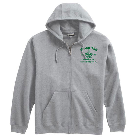 Troop186 Full Zip Hooded Sweatshirt