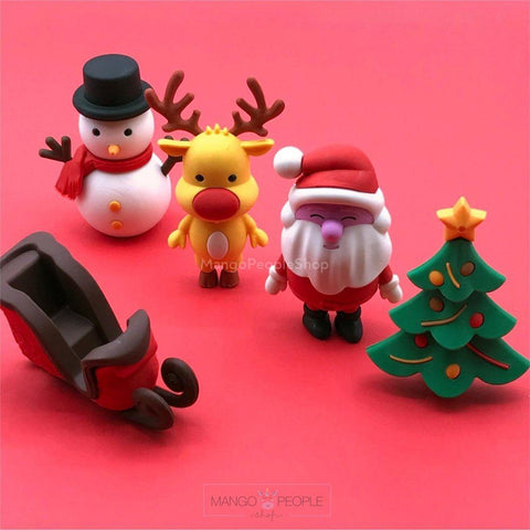 3D Christmas Erasers Stationery Mango People