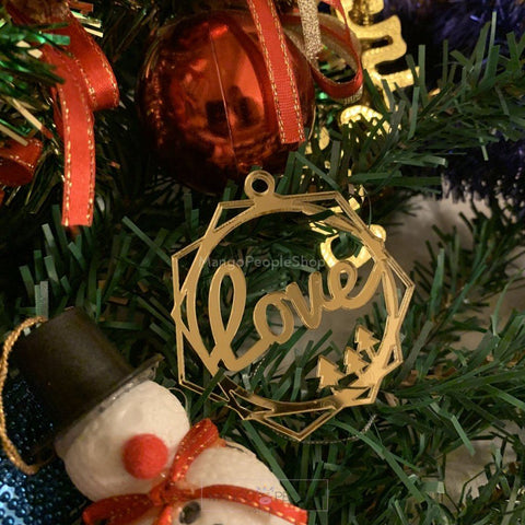 Love Christmas Ornament Christmas Ornaments Bay Leaf Accessories