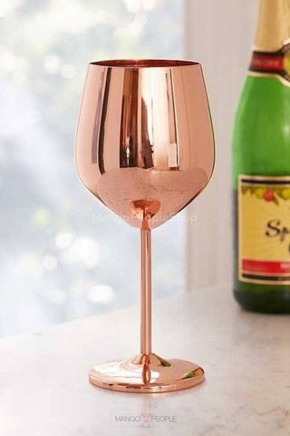 Rose Gold Pinot Wine Glasses - Set Of 2 Glass
