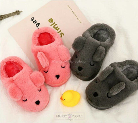 Sleeping Pup Plush Slip-on for Kids Plush Slippers Mango People Kids
