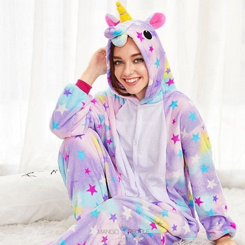Unicorn Adult Onesie - Stars Pyjama Set Mango People International