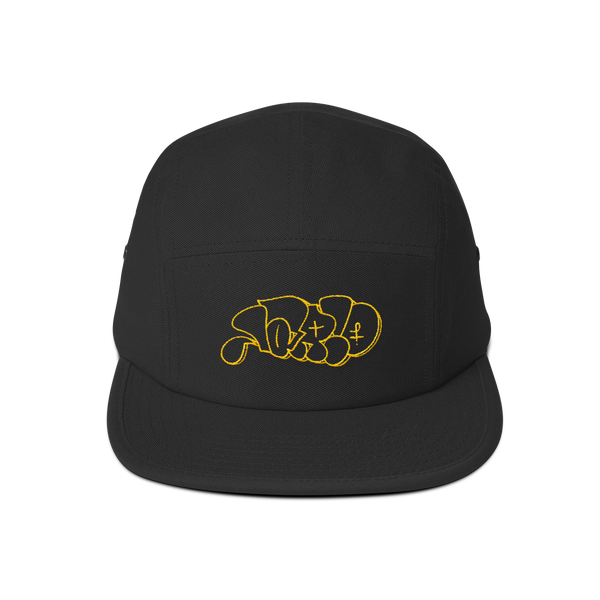 Lario Throwie by Nate Chandler—5 Panel Hat (gold embroidery)