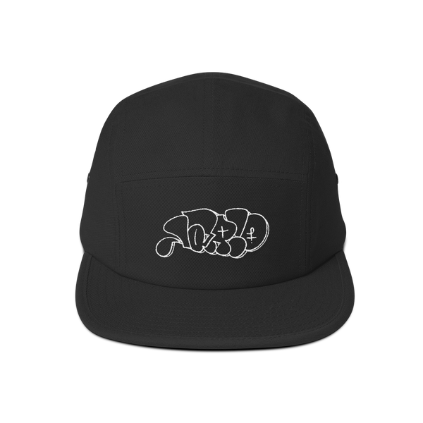 Lario Throwie by Nate Chandler—5 Panel Hat (white embroidery)