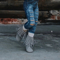 Minky Boots - Grey Suede