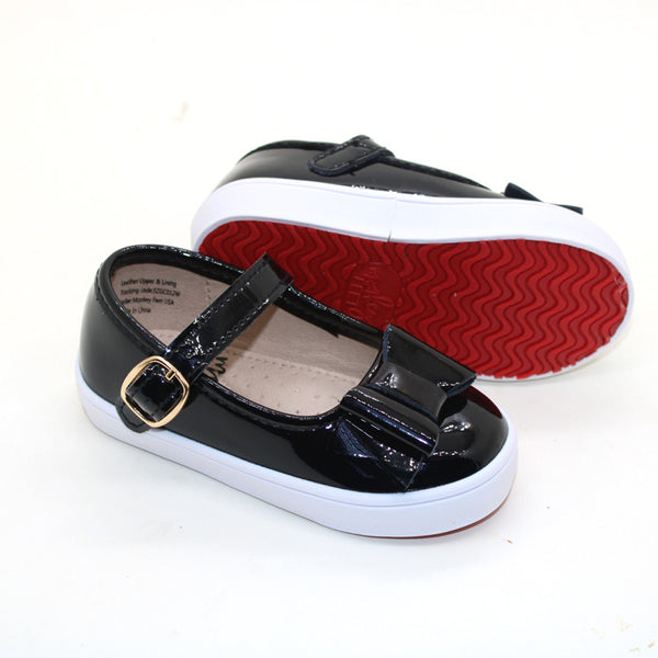 Red Bottom Mary Janes - Black Patent Leather
