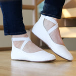 Mommy Ballet Flat - White