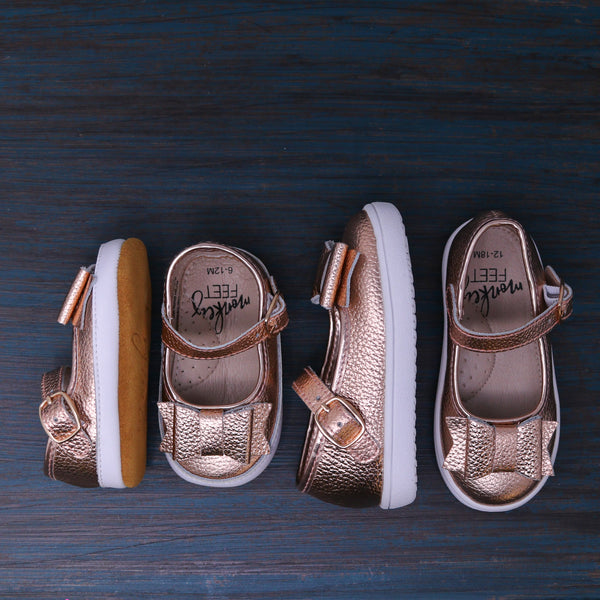 Bow MaryJanes - Rose Gold