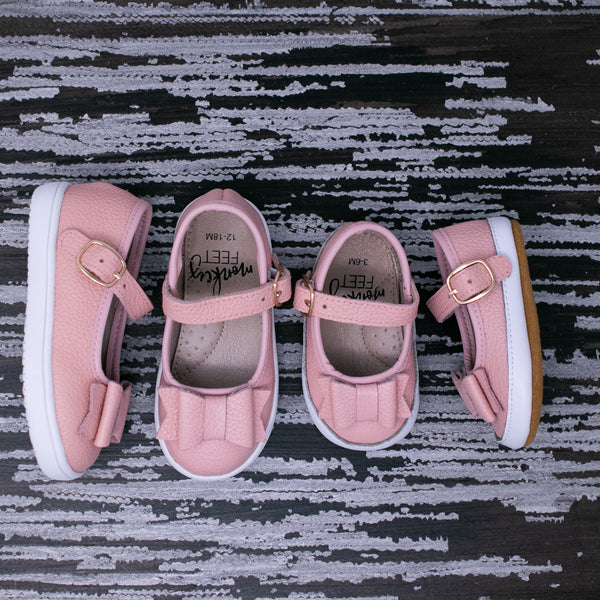 Bow MaryJanes - Pink