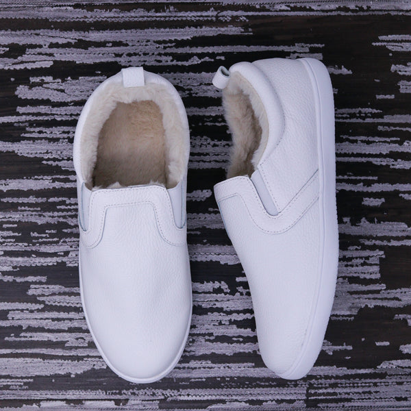 Fleece Lined MOMMY Slides - White