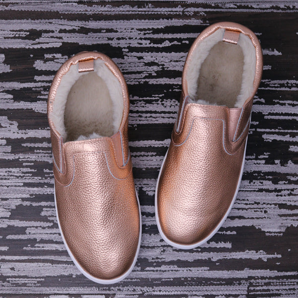 Fleece Lined MOMMY Slides - Rose Gold