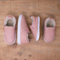 Fleece Lined Slides - Pink