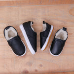 Fleece Lined Slides - Black