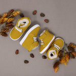 Fleece Lined High Tops - Mustard Suede