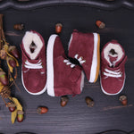 Fleece Lined High Tops - Sangria Suede