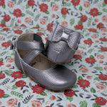 Metallic Bow Backs - Gunmetal