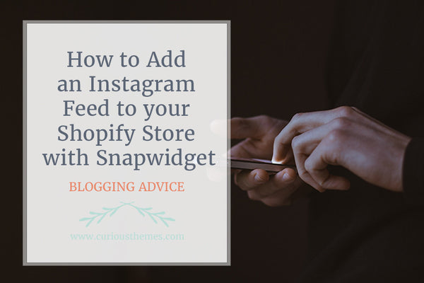 How to Add an Instagram Feed to your Shopify Store with Snapwidget