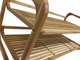 2 Tiers Shoe Rack Made of 100% Bamboo