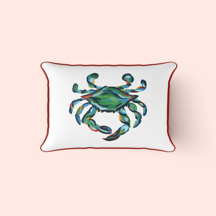 King Crab, Lumbar Pillow Cover