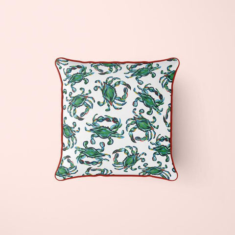 Green Crab Craze Pillow Cover