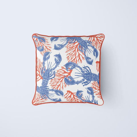 Lobster & Coral Pillow Cover