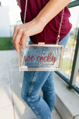 We Cocky Clear Acrylic Game Day Clutch