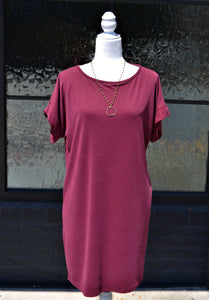 Game Day Ready Dress ( Burgundy)
