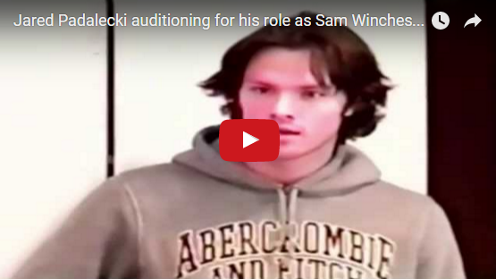 Jared Padalecki auditioning for his role as Sam Winchester