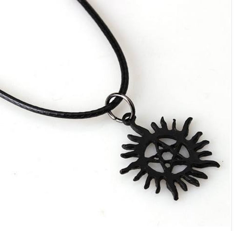 Necklace - Deadly Black Pentagram Necklace FREE SHIPPING