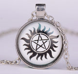 Pentagram - Supernatural Pentacle Glass Pendant