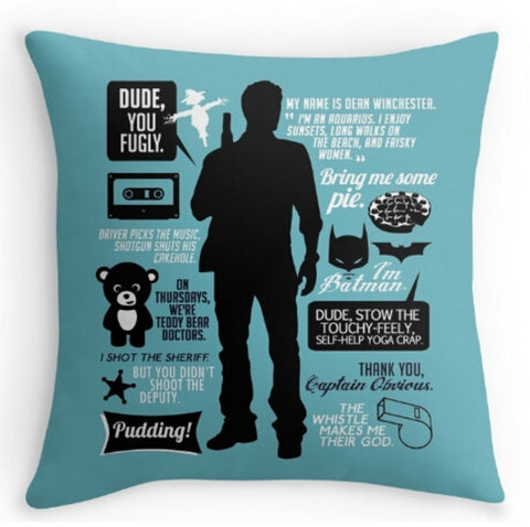 Pillowcase - Dean Winchester Quotes Custom Pillowcase