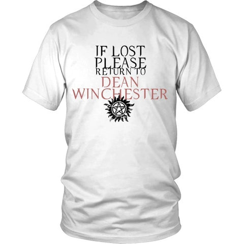 T-shirt - IF LOST PLEASE Return To Dean Winchester