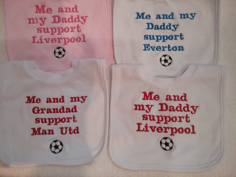 Me and my Daddy football bib