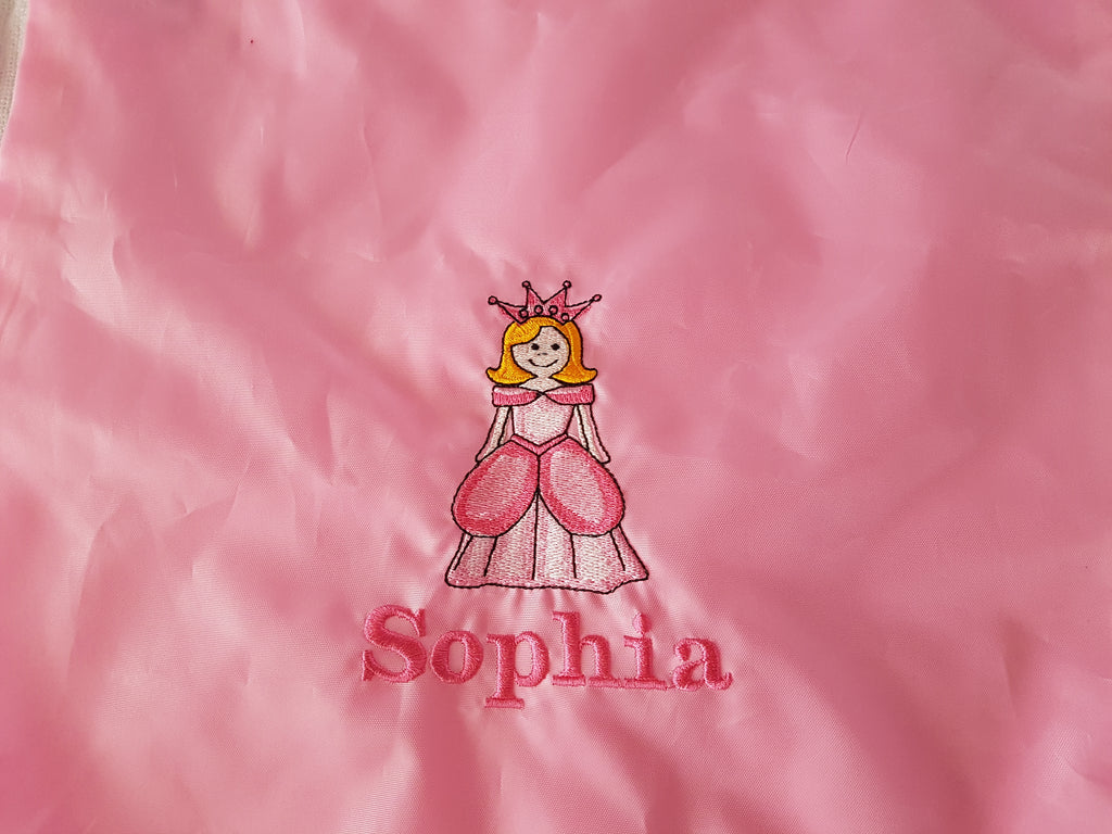 Princess drawstring bag with a name gymsac swim pe swim nursery bag