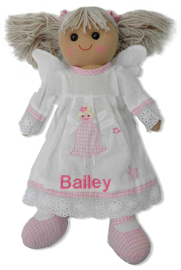 Angel Rag doll 30cm personalised with a name